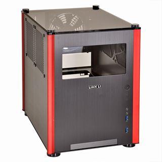 Lian Li PC-Q36WRX mit Sichtfenster Mini-ITX ohne Netzteil schwarz/rot