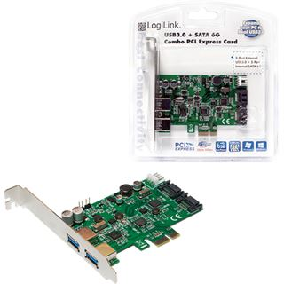 LogiLink PC0059A 4 Port PCIe x1 inkl. Low Profile Slotblech / Low