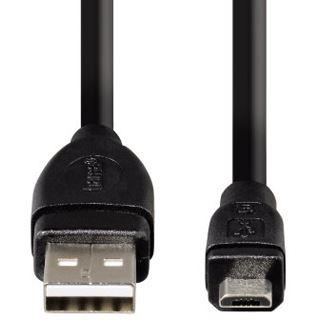 0.25m Hama USB2.0 Anschlusskabel USB A Stecker auf USB mikroB Stecker