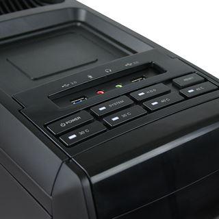 Cooltek GT-01 mit Sichtfenster Midi Tower ohne Netzteil schwarz
