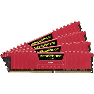 16GB Corsair Vengeance LPX rot DDR4-2400 DIMM CL14 Quad Kit