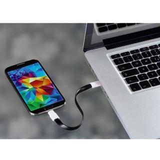 0.20m Hama USB2.0 Anschlusskabel USB A Stecker auf USB mikroB Stecker