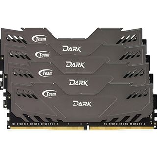 32GB TeamGroup Dark Series grau DDR4-2800 DIMM CL16 Quad Kit