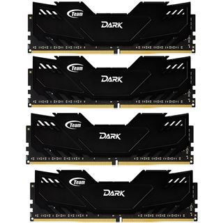 16GB TeamGroup Dark Series schwarz DDR4-2666 DIMM CL15 Quad Kit
