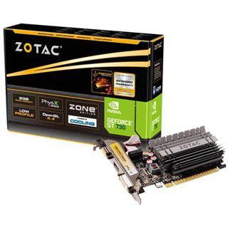 2GB ZOTAC GeForce GT 730 Passiv PCIe 2.0 x16 (Retail)