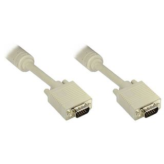 1.00m Good Connections S-VGA Anschlusskabel 15pol Stecker auf 15pol