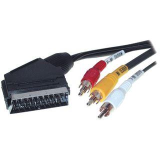 2.00m Good Connections SCART Anschlusskabel 20pol Stecker auf 3xCinch