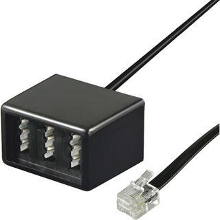 0.20m Good Connections Telefon Anschlusskabel RJ11 Buchse auf NFN