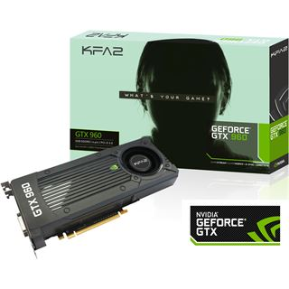 2GB KFA2 GeForce GTX 960 Black Edition Aktiv PCIe 3.0 x16 (Retail)