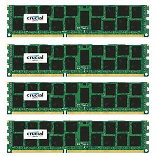 64GB Crucial CT4K16G4RFD4213 DDR4-2133 regECC DIMM CL15 Quad Kit