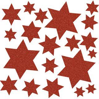 Herma Fensterdecor Sterne rot