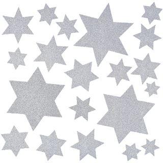 Herma Fensterdecor Sterne 30x30 cm silber