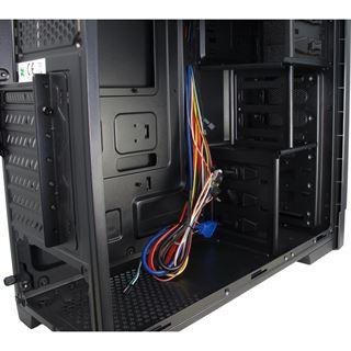 Inter-Tech SY-703 Midi Tower ohne Netzteil schwarz