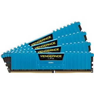 32GB Corsair Vengeance LPX blau DDR4-2400 DIMM CL14 Quad Kit