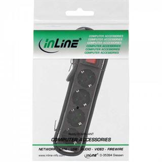 (€3,60*/1m) 1.50m InLine Steckdosenleiste mit Schalter Schwarz 4