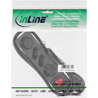 (€1,67*/1m) 5.00m InLine Steckdosenleiste mit Schalter Schwarz 4