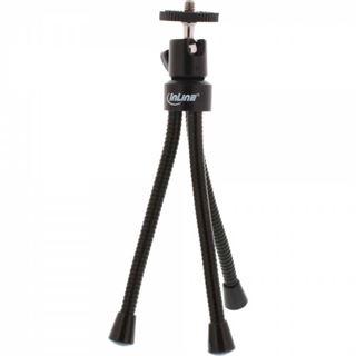 InLine Mini-Stativ 190mm mit Kugelkopf, flexible schwarze