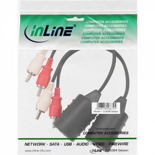 InLine Audio über RJ45 passiv, 2x Cinch Stecker / RJ45 Buchse,