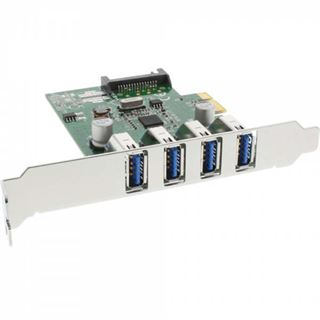 InLine 76661C 4 Port PCIe inkl. Low Profile Slotblech / Low Profile