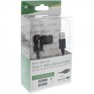 1.00m InLine USB2.0 Anschlusskabel 3in1 USB A Stecker auf USB mikroB
