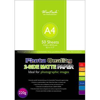 Wintech Fotopapier DM200, Din A4, 200g, 50 Blatt, beidseitig, matt