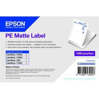 Epson PE matt LABEL-DIE-CUT FANFOLD